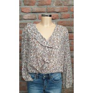 Vera Jo blouse met ruffel bloemen print