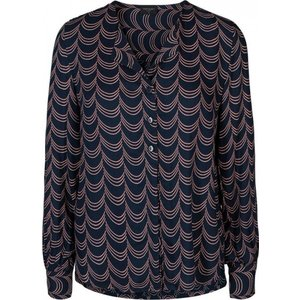 Freequent Freequent blouse Sus 121683 navy blazer mix