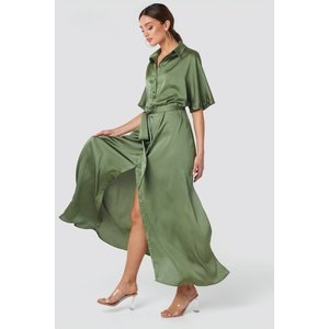 Rut&Circle Rut&circle Tilde long dress 20-01-46 khkai green