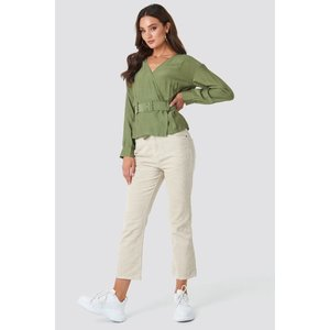 Rut&Circle Rut&circle Lindy belt blouse 20-01-60 khaki green