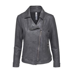 Zoso Zoso 201Biker leather coated biker charcoal