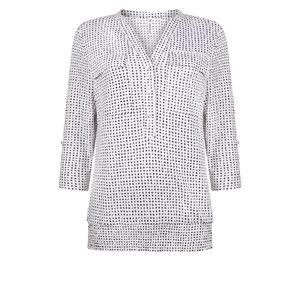 Zoso Zoso Linda blouse with dots print 1300/0016 greenstonewhite