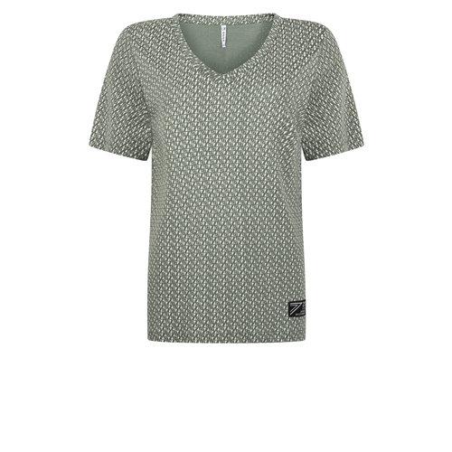 Zoso Zoso Marvel allover printed t shirt 0008/0016 navywhite