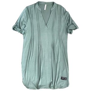 Zoso Zoso Femme tunic with pleats 1300 greenstone