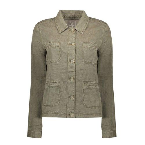Geisha Geisha jacket linen 05013-10 army