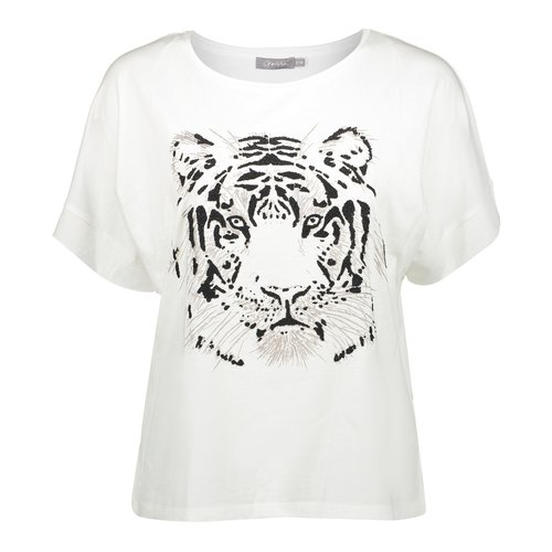 Geisha Geisha t-shirt Tiger 02352-46 off-white