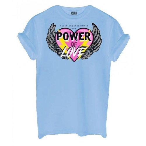 Azuka Azuka t-shirt Power of love blauw