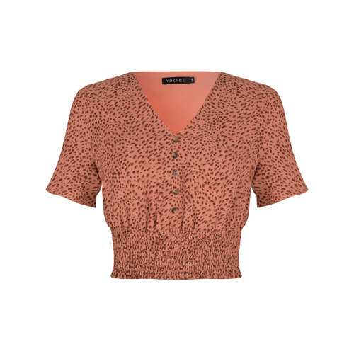 Ydence Ydence top Mia pink / brown print