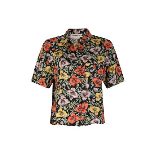 24colours 24Colours blouse 30223 black flower