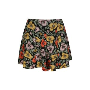 24colours 24Colours short 60455 black flower