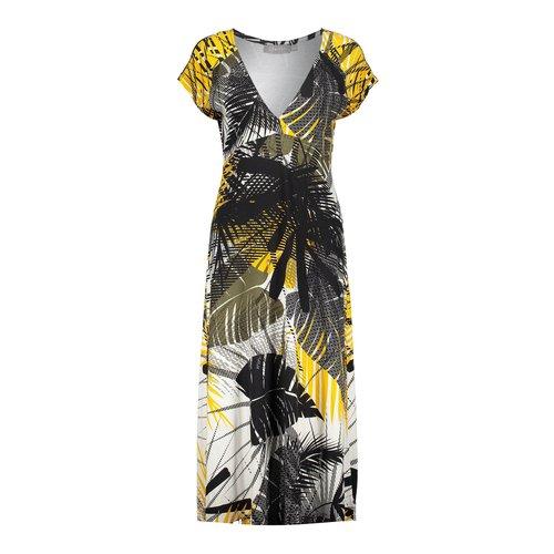 Geisha Geisha dress long Jane 07359-60 yellow/black