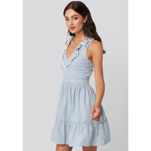 Rut&Circle Rut&Circle Zoe dress 20-02-78 blue/white stripe