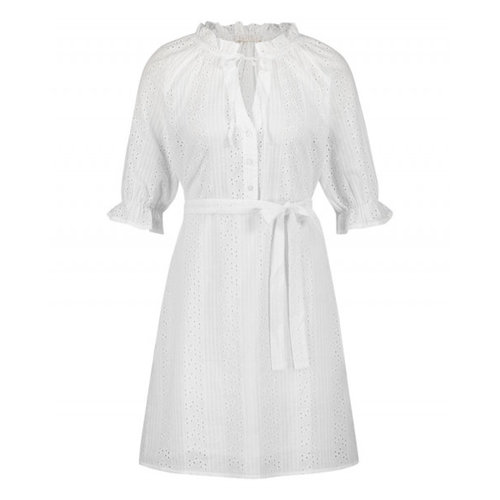 Freebird Freebird Marja mini dress short sleeve white