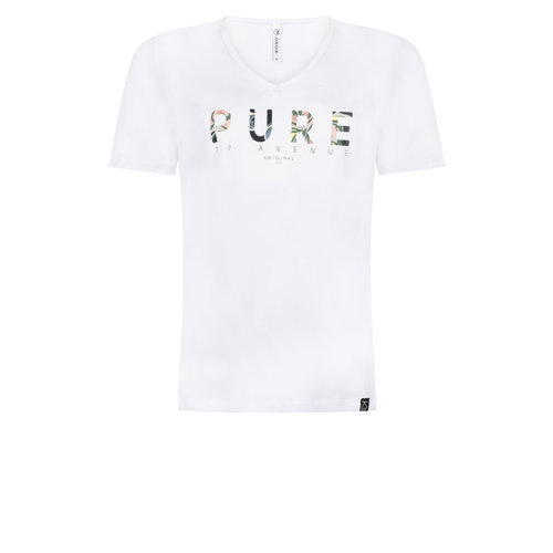 Zoso Zoso Pure t shirt with chestprint 0016/1300 whitegreenstone