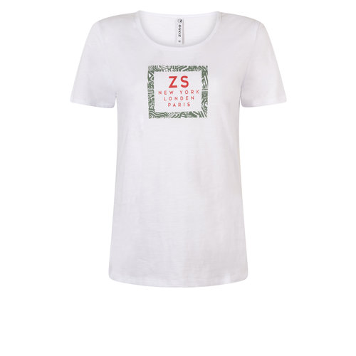 Zoso Zoso 203Sis t-shirt with print white/army