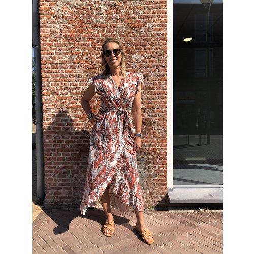 Fos jurk lang Bonnie 2024 Wieber Koraal
