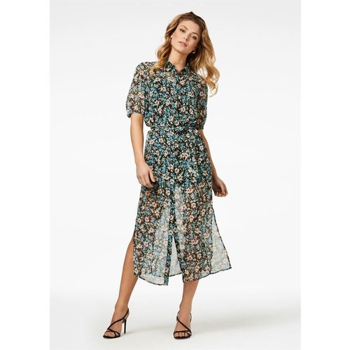 Freebird Freebird Hayden SS midi dress short sleeve flower
