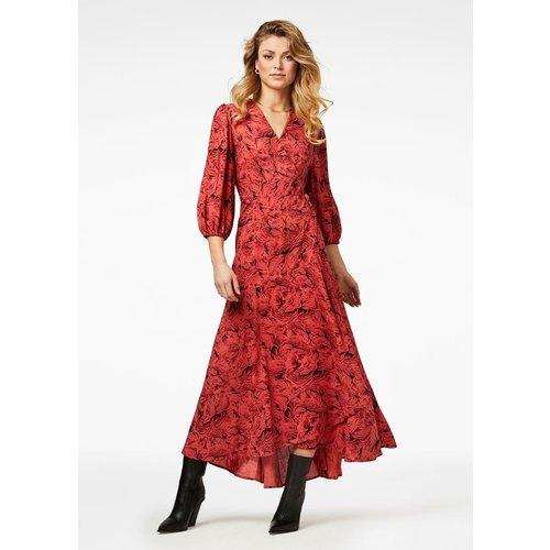 Freebird Freebird Belia maxi dress 3/4 dress pink
