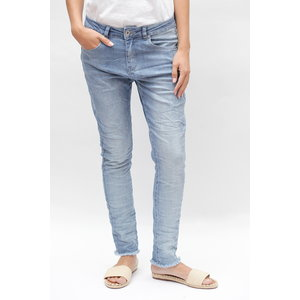 Bianco Bianco broek Fransisco boyfriend light blue denim