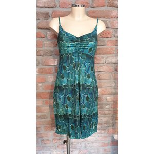 Geisha Geisha spaghetti dress Noa 97370-60 aqua/green