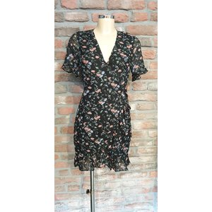 Freebird Freebird Rosy mini dress flower black