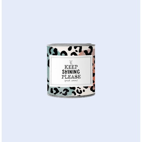 The Gift Label Candle small - Keep shining - Jasmine vanilla - 1011721