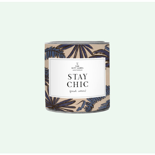 The Gift Label Candle big - Stay chic - Fresh cotton - 1011683