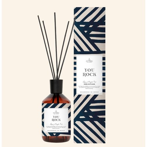 The Gift Label Reed diffusher - Spicy and royal - you rock - 10123007