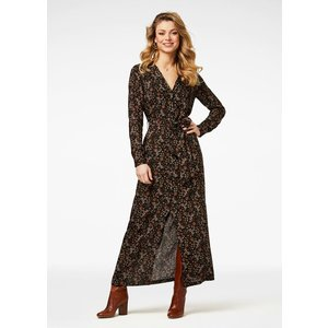 Freebird Freebird Vikas LS maxi dress short sleeve black