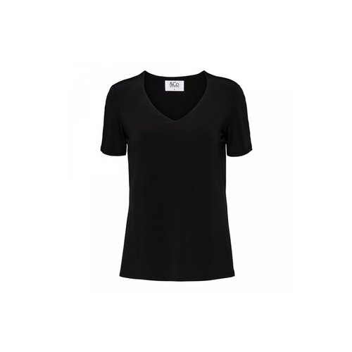 &CO lovi top v-hls black 05aw-to100-a