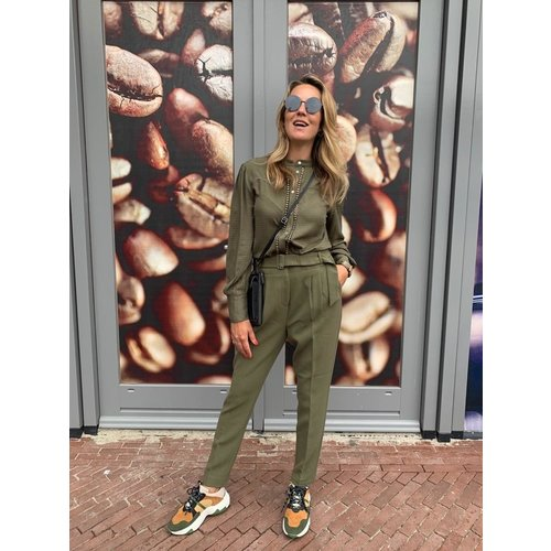 Aaiko Aaiko blouse Tamia Vis 518 army green