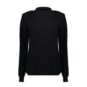 Geisha Geisha pullover buttons at shoulder 04544-22 black