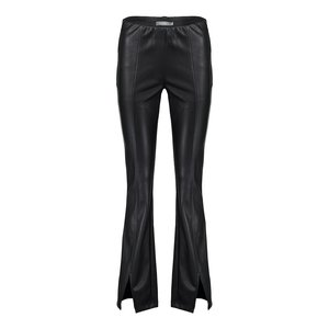 Geisha Geisha pants pu flair 01564-19 black