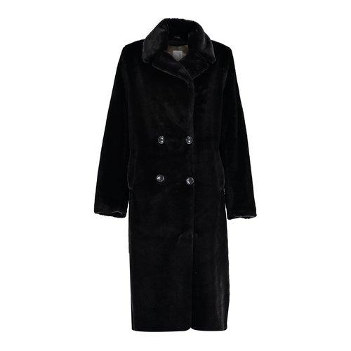 Geisha Geisha coat long fake fur 08556-27 black