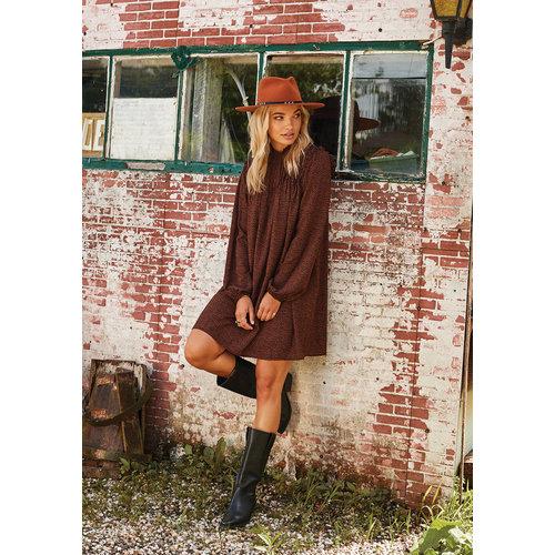 Ydence Ydence Celine korte jurk print black print