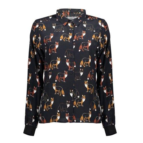 Geisha Geisha blouse fox 03646-20 black/brique combi