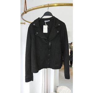Geisha Geisha biker jacket suedine black