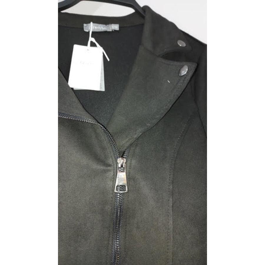Geisha Geisha biker jacket suedine 05580 70 black