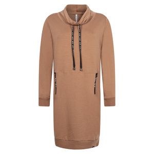 Zoso ZOSO Sweat dress tech zip 204Stacey cognac