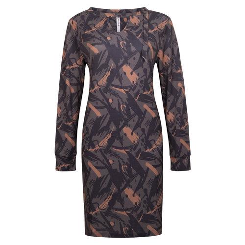 Zoso ZOSO Splendour printed dress 204Belle carboncognac