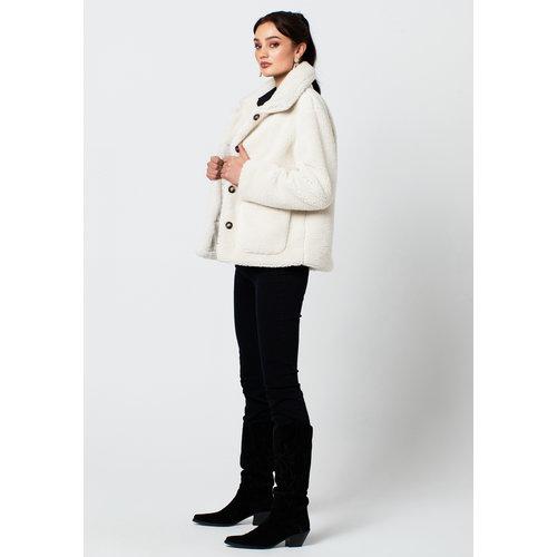 Rut&Circle Rut&Circle Teddy jacket Tea 20-03-59 off white