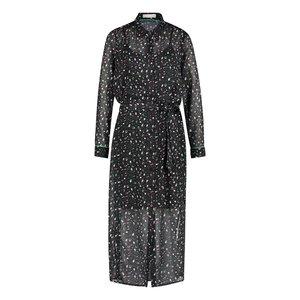 Freebird Freebird harper midi dress long sleeve black