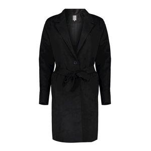 Geisha Geisha blazer long suedine 05526-10 black