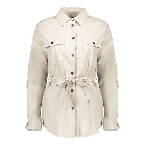 Geisha Geisha leather look Blouse PU 000010 off-white