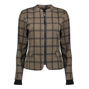 Geisha Geisha jacket check zipper closure 05533-20