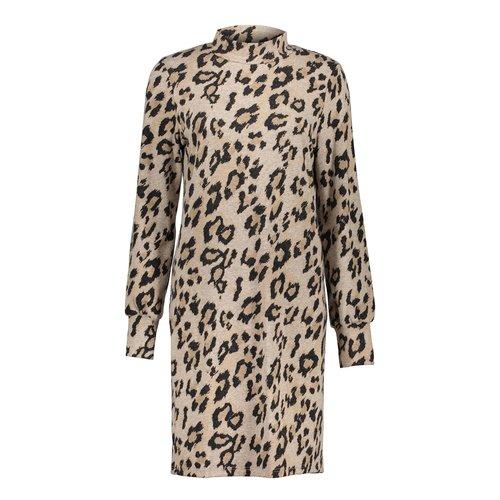 Geisha Dress soft leopart&turtle 07640-20 sand/black combi