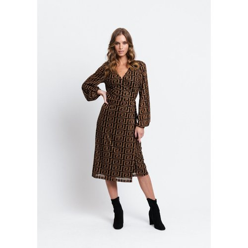Rut&Circle Rut&Circle Mindy wrap dress 20-03-75 rusty brown