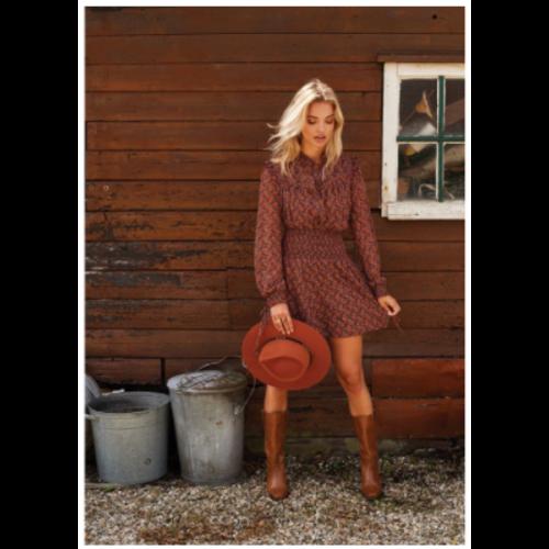 Ydence Ydence blouse Puck brown/orange print