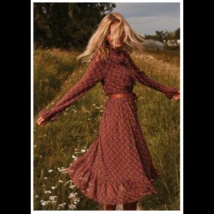Ydence Ydence Maxi dress Moni brown/orange print