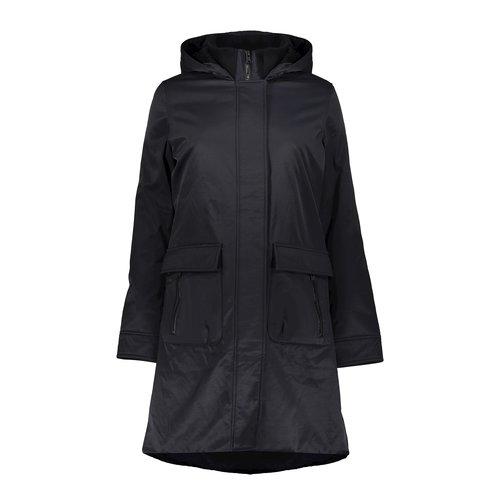 Geisha Geisha jacket soft hood & zipperpockets  black